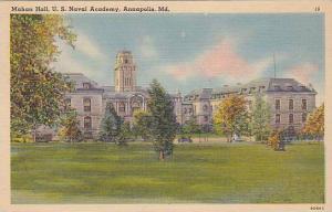 Mahan Hall, U.S. Naval Academy, Annapolis, Maryland, 30-40s
