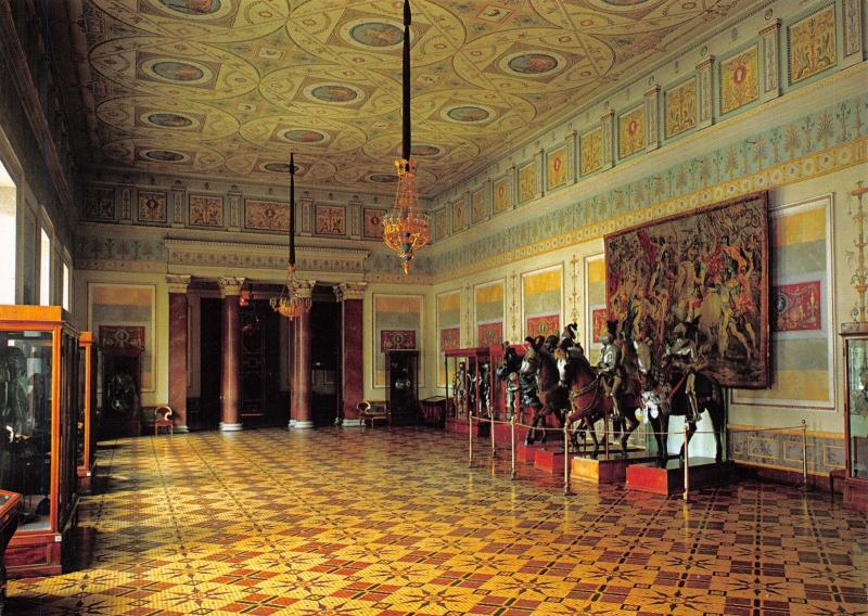 St Petersburg Russia Postcard, The Hermitage, The Knights' Hall Y18