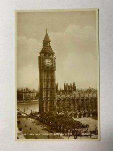 UNUSED VINTAGE RP POSTCARD -  BIG BEN WESTMINSTER LONDON (KK1585)
