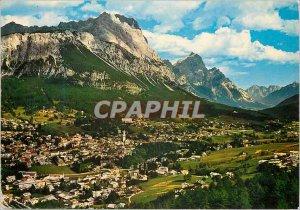 Postcard Modern Dolomiti cortina d'Ampezzo in 1224 Sorapis m 3205 3263 Antelao