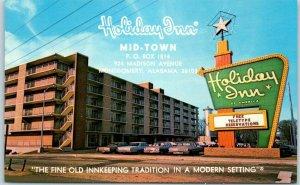 Montgomery, Alabama Postcard HOLIDAY INN Mid-Town 924 Madison Ave. c1960s