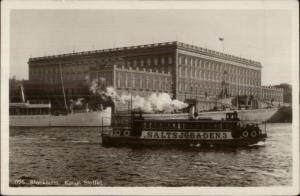 Stockholm Sweden Steamer Boat Saltsjobaden c1915 Real Photo Postcard