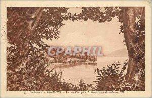 Old Postcard Environs of Aix les Bains Lake Bourget Abbey Hautecombe