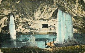 Dobsinska Glaciar Ice Cave interior Dobsina Slovakia Altar grossen Saale 1912