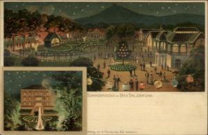 Szczawno-Zdr¢j Bad Salzbrunn Poland - Sommerabend 1899 Used Postcard