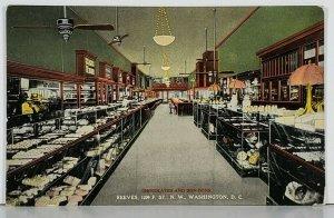 Washington DC REEVES Chocolates and Bon-Bons Interior View Postcard K7