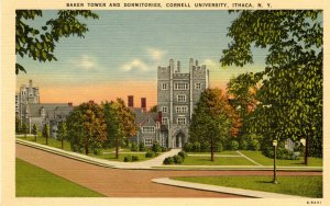 NY - Ithaca. Cornell University. Baker Tower and Dormitories