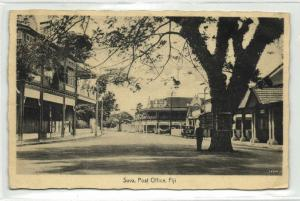 fiji islands, SUVA, Street with Post Office (1937) Stamp - Co Operative No. 124