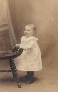 Real Photo Young Child Mildred P Sheppard 1914 The Ward Studio Bridgeton New ...