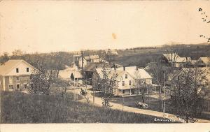 Swanville ME Aerial View Business District Blodgett's Art Photo RPPC Postcard