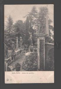 097125 ITALY Isola Bella Statue del giardino Vintage PC