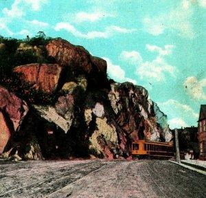 Duluth Mn Minnesota Point Von Rock W Trolly Eisenbahn 1920s Unp Postkarte