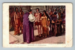 Jamestown Exposition 1907 No. 10 Marriage of Pocahontas - Official Postcard