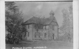 E81/ Aurora Ohio RPPC Postcard c1910 Public School Building