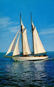MA - Cape Cod, 72 foot Schooner Under Full Sail