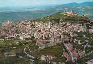 Italy Assisi Panorama dall'aereo