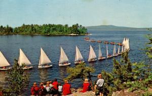 ME - Lake Sebago. Sailboats on Parade (Sailing)