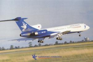 Slovak Airlines, unused Postcard