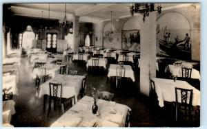 RPPC  BALTIMORE, MD  Interior WALKER HASSLINGER RESTAURANT ca 1930s   Postcard
