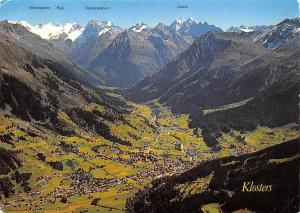 Switzerland Klosters mit Silvrettagruppe Mountains Panoramic view Linard Buin