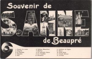Souvenir de Sainte Anne de Beaupre QC Quebec Large Letter Postcard E31