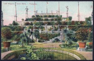 Isola Bella Garden Terrace Piedmont Italy unused c1910's
