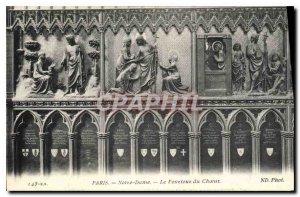 Old Postcard Paris Notre Dame The Pourtoux Choir