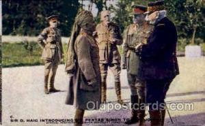 Gen Joffre, Old Man of India Postcard Post Card Sir D Haig Introducing Sir P...
