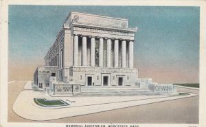 WORCESTER, Massachusetts, 1910-20s; Memorial Auditorium
