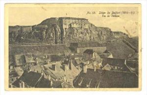 Vue Du Chateau, Siege De Belfort (1870-71), Territoire de Belfort, France, 19...