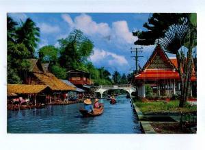190943 THAILAND BANGKOK CAnal in Dhonburi Vintage RPPC