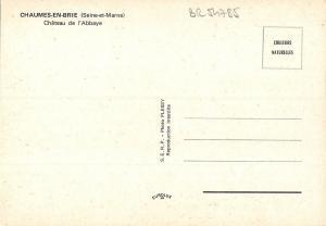 BR54785 Chaumes en Brie chateau de l abbaye france