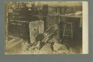 Echo MINNESOTA RP c1910 ROBBERY Post Office BLOWN SAFE USPS nr Granite Falls