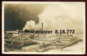 772- OCEAN FALLS BC 1923 Pulp & Paper Mills. Real Photo Postcard by Gowen Sutton