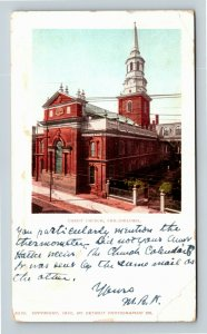 Philadelphia PA, Christ Church Bird's Eye View Vintage Pennsylvania Postcard