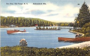 Bea Bay Old Forge, New York Postcard