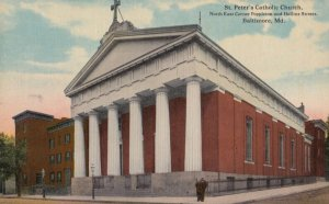 BALTIMORE , Maryland, 1900-10s ; St Peter's Catholic Church