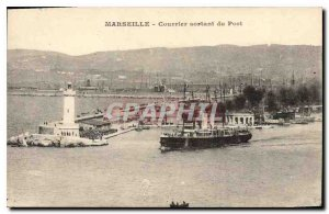 Old Postcard Marseille Outgoing Mail Port