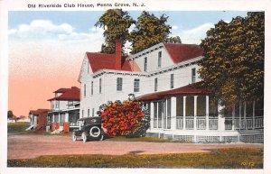 Old Riverside Club House, Penns Grove, N.J., Early Postcard, Unused