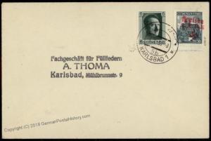 3rd Reich Sudetenland Karlsbad Expertized Mi 63 Kaschau Kosice Cover 56297
