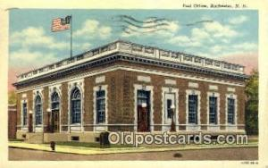 Rochester, NH USA,  Post Office Postcard, Postoffice Post Card Old Vintage An...