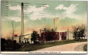Hess and Hopkins Plant, Rockford Illinois c1911 Vintage Postcard L20