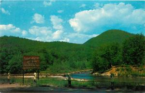Deerfield & Cold River Meet Old Indian Camping Ground Mohawk Trail Ma Postcard