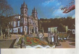 Postal 014150: Frontispicio do Santuario de Bom Jesus, Braga, Portugal