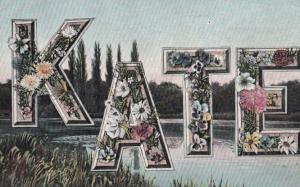A Girls Named Called KATE River Nautical Antique Postcard