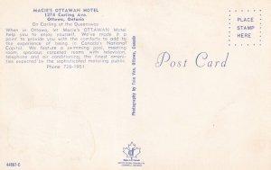 OTTAWA, Ontario, Canada, 1940-1960s; Macie's Ottawan Hotel, Swimming Pool