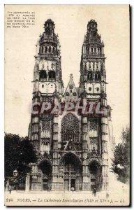 Postcard Old Tours Cathedrale Saint Gatien