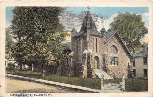 C51/ Glasgow Kentucky Ky Postcard 1921 Catholic Church Building
