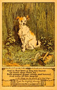 And in that town a dog was found… by Ralph Caldecott (Repro 1974)