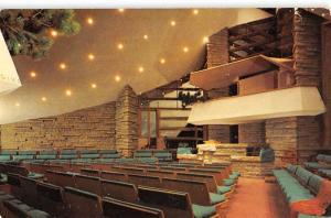 Madison Wisconsin Unitarian Society Interior Frank Lloyd Wright Postcard K70070